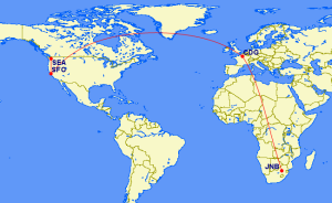 Using Delta Miles to get to South Africa in Business Class (4 CPM)