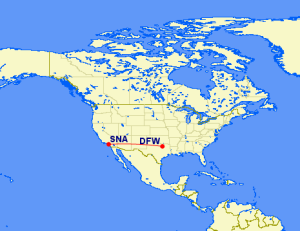Shadow Currency Booking: LAX-DFW on AA With MR for 15,500 R/T