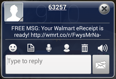 Walmart Text Message