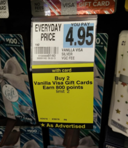 Quick Deal: $16 in Plenti Points When You Buy 4 Vanilla Visa at Rite-Aid