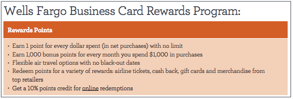 Wells fargo business platinum 500 offer existing checking account note that this wells fargo business card rewards program is distinct from the consumer gofar rewards though depending on how you interpret language on reheart Gallery