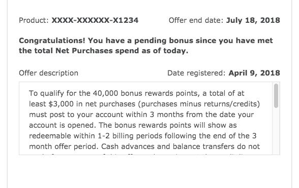 Confirming Wells Fargo signup bonus has been met